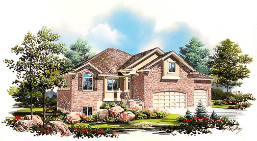 Home plan in 2005 NWHBA Parade of Homes