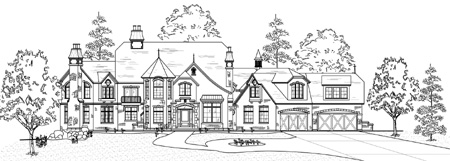 habitations home plans specializing in unique custom and luxury - Home Blueprints