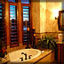 Custom home plan bathrooms