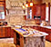 Mountain style home kitchen with custom cabinetry