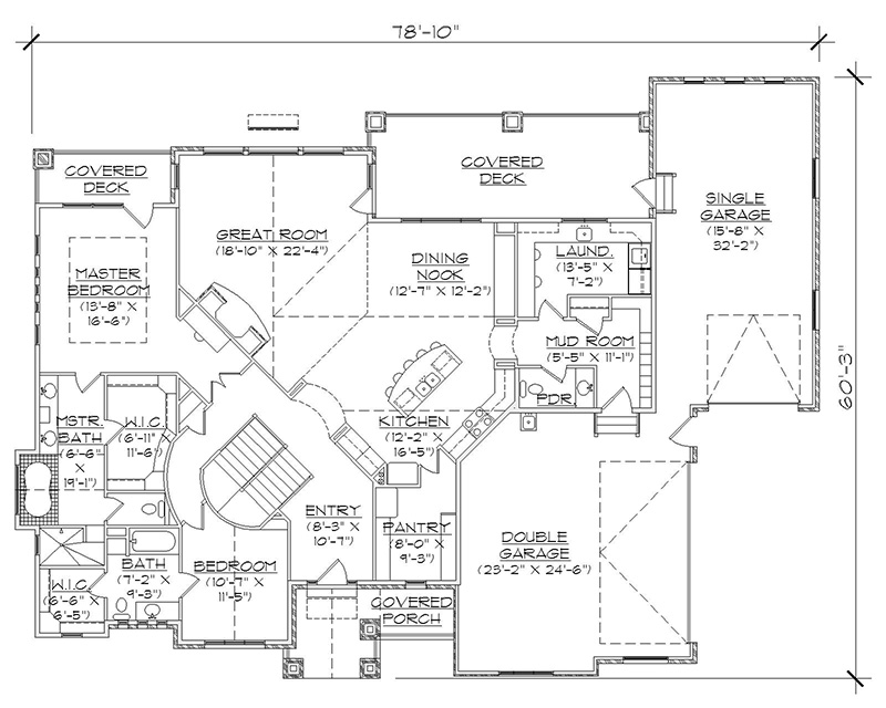 Rambler floor plans with basement for Rambler house plans with basement