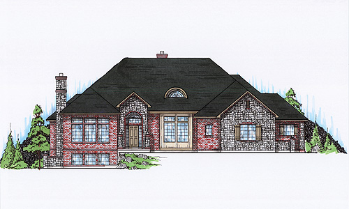3 Bedroom Hip Roof Ranch Style 1780 SF House Plans Building