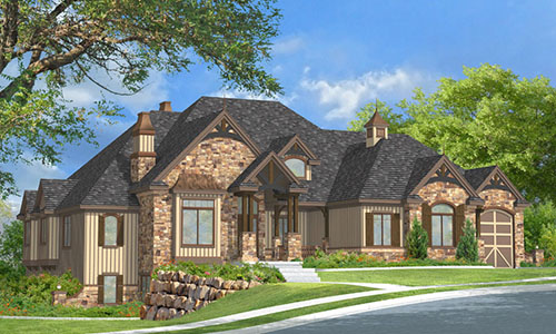 Two Story Home Plan Design