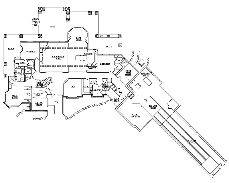 House plans with bowling alley 28 images viewing a for House plans with bowling alley