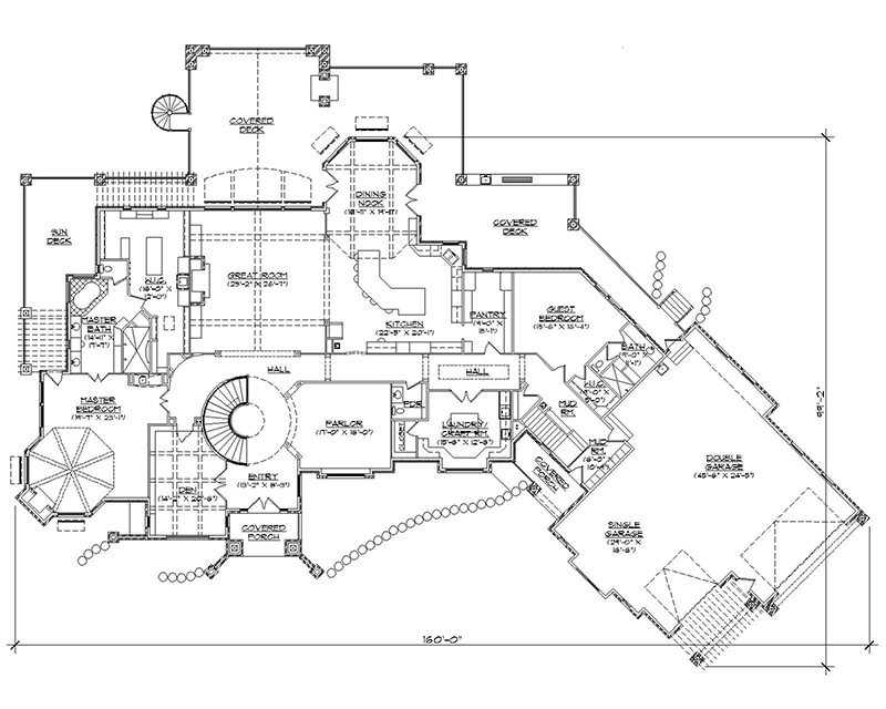 6000 sq ft house plans Bowling alley floor plans