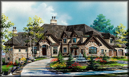 luxury two story home designs - Custom Home Design